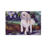 Lhasa Apso Junior Rectangle Magnet (100 pack)