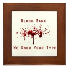 Unique Blood Framed Tile