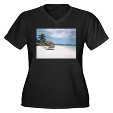 Cute Turks and caicos islands Women's Plus Size V-Neck Dark T-Shirt