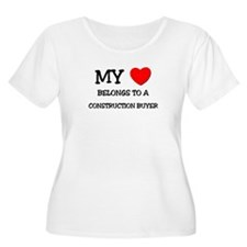 My Heart Belongs To A CONSTRUCTION BUYER T-Shirt