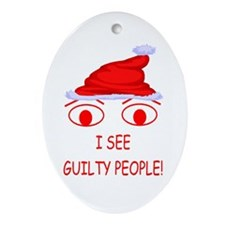 Christmas Cop Oval Ornament