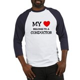 My Heart Belongs To A CONDUCTOR Baseball Jersey