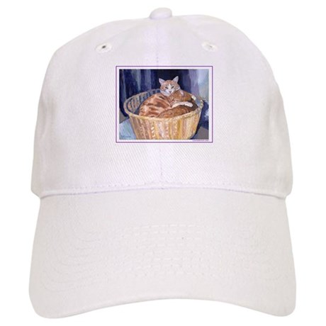 Two cats in a basket Cap