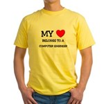 My Heart Belongs To A COMPUTER ENGINEER Yellow T-S