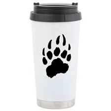BLACK Bear Paw Ceramic Travel Mug