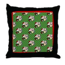 Christmas Carolers Throw Pillow