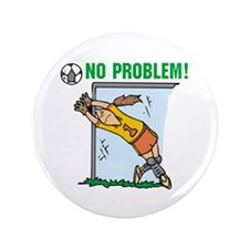 "Girl Soccer Goalie 3.5"" Button (100 pack)"