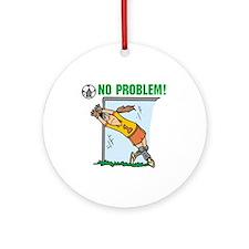 Girl Soccer Goalie Ornament (Round)
