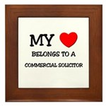 My Heart Belongs To A COMMERCIAL SOLICITOR Framed