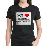 My Heart Belongs To A COAST GUARD Tee