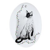 Siamese Cat Oval Ornament