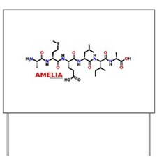 Amelia name molecule Yard Sign