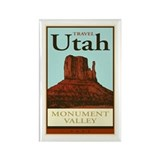 Travel Utah Rectangle Magnet
