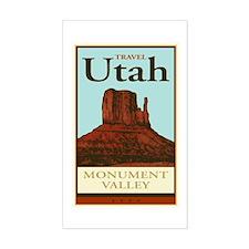 Travel Utah Rectangle Decal