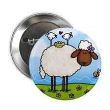 """Spring Sheep 2.25"""" Button (100 pack)"""