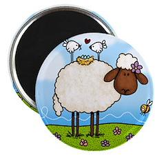 "Spring Sheep 2.25"" Magnet (100 pack)"