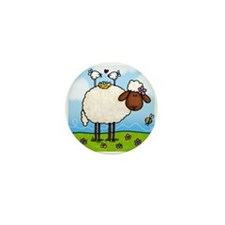 Spring Sheep Mini Button (10 pack)