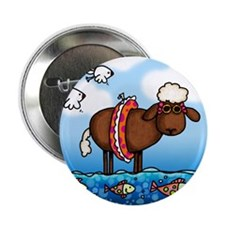 "Summer Sheep 2.25"" Button (100 pack)"