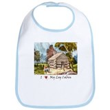 Mountain Log Cabin Color Bib
