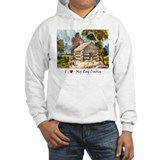 Mountain Log Cabin Color  Hoodie