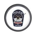 Pentagon Police Wall Clock