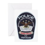 Pentagon Police Greeting Cards (Pk of 10)