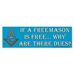 Un Free Mason Bumper Sticker