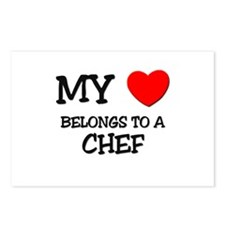 My Heart Belongs To A CHEF Postcards (Package of 8