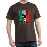 Italian Stallion Black T-Shirt
