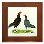 Thailand Gamefowl Framed Tile