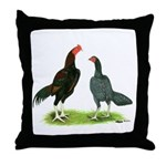 Thailand Gamefowl Throw Pillow