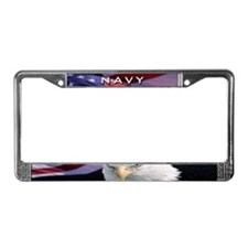 Navy & Eagle - License Plate Frame