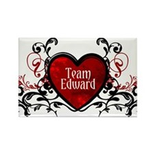 Team Edward heart Rectangle Magnet (10 pack)