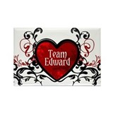 Team Edward heart Rectangle Magnet