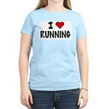 I LOVE RUNNING Women's Pink T-Shirt