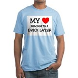 My Heart Belongs To A BRICK LAYER Shirt