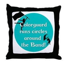 Cool Color guard flag Throw Pillow
