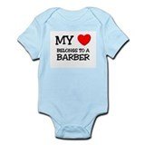 My Heart Belongs To A BARBER Onesie