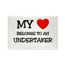 My Heart Belongs To An UNDERTAKER Rectangle Magnet