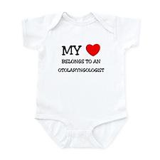 My Heart Belongs To An OTOLARYNGOLOGIST Infant Bod