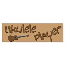 Ukulele Player Bumper Bumper Sticker