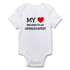 My Heart Belongs To An ORTHODONTIST Infant Bodysui