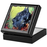 Scottish Terrier Profile Keepsake Box