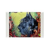 Scottish Terrier Profile Rectangle Magnet