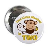 Little Monkey 2nd Birthday Boy 2.25&quot; Button