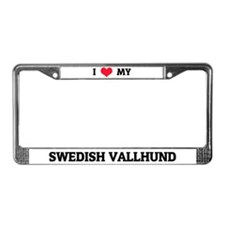 I Love My Swedish Vallhund License Plate Frame