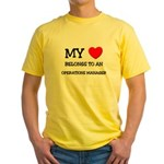My Heart Belongs To An OPERATIONS MANAGER Yellow T