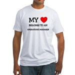 My Heart Belongs To An OPERATIONS MANAGER Fitted T