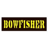 BOWFISHER Bumper Bumper Sticker