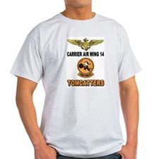 US NAVY VF-31 TOMCATTTERS Ash Grey T-Shirt